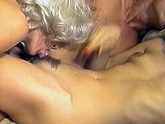 Fuck starving blond head dude was surrounded by bunch of horny full bosomed rapacious bobmshells, who attacked his cock from different sides. Watch this orgy fuck in The Classic Porn sex clip!