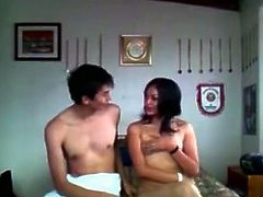 Seductive Indian babe with curvy body takes off her clothes in front of the camera. She gets penetrated in a missionary position and pounded intensively.