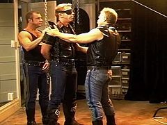 Me,bodybuilder and young stud CBT scene.