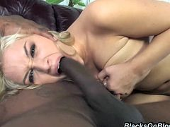Click to watch this blonde pornstar, with a nice ass wearing winter boots, while she goes really hardcore and moans like a crazy whore.
