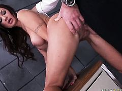 With gigantic knockers fulfills her sexual needs and desires with horny dude Charles Dera