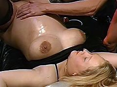 Nasty blonde goes wilf in dirty and alluring hardcore gang bang scene