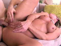 Have a look at this great hardcore scene where the busty blonde milf Simone Sonay ends up with a messy facial after being fucked by a big cock.