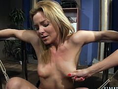 Brunette sweetie Salome with huge jugs and Mandy Bright are so fucking horny in this lesbian action
