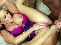 Nasty interracial hardcore sex for greedy wife while hubby watches
