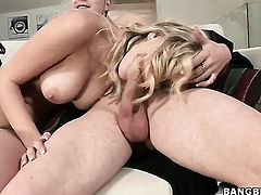 Marry Queen takes guys cum loaded man meat in her pussy