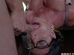 Busty warden Ariella Ferrera gets fucked good by prisoner