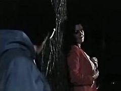 Black haired honey hugs her boy and moans with pleasure taking his dick up her wet cunt missionary style. Then one blonde lady dances with her partner on party.