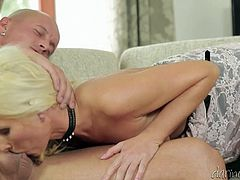 Check out this hardcore scene where the sexy blonde Vanessa Hell moans at the top of her lungs as she's fucked by a guy.