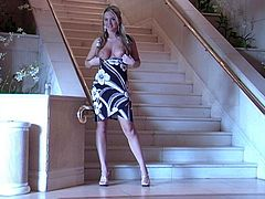 Look at this smoking hot and luscious siren Alison Angel! Babe loves it big and she is going to lead you to the heaven on the stairway!