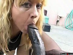 Dumpy light head whorish filth in funny sex play suit passionately swallowed that massive long chocolate sausage deep throat and finally got her mouth fully filled with the sperm of that stinky African man. Look at this dirty bitch in Pornstar sex video!