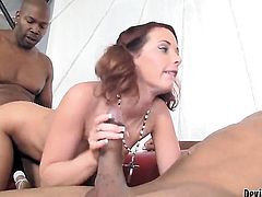 Tweety Valentine is wet as the ocean in this steamy interracial scene with lots of pussy slamming