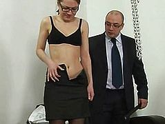 Lazy secretary, spanked and humiliated