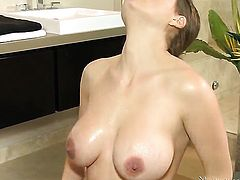 Brunette Allison Moore wants sex with Marcus London really badly
