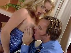 Such a sizzling and passionate one Alicia Rhodes is! Honey is going to blow that cock and takes a long time. Then she bends over and finally his cock is in her twat!