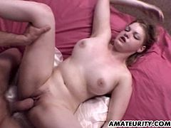 A busty blonde amateur girlfriend homemade anal action ! Blowjob, fuck and anal ending with cumshot...
