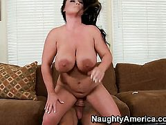 Indianna Jaymes with juicy boobs loves to fuck and cant say No to her hot fuck buddy Bill Bailey