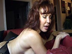 Lesbians June & Vanessa don't waste time.  They unleash their massive tits and begin pussy play right away.