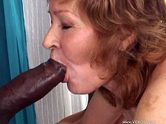 Make sure you have a look at this interracial video where this horny granny gets drilled by big black cocks in a gangbang.