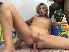 Dirty minded blond head ever hungry tootsie got all fuck holes powerfully and properly hammered all possible ways by brutal kinky fuck starving dudes. Watch this shameless blond head chick in Fame Digital porn clip!