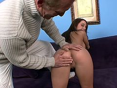 Check out Nicole Heiress slamming her shaved twat with a senior cock