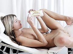 Gina Gerson with tiny tits and clean beaver lets man fuck her bottom