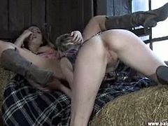 Paige Turnah brings you a hell of a free porn video where you can see how blonde and brunette sluts get nasty in the barn while assuming very interesting poses.