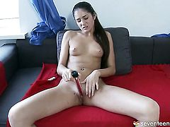 Micara strokes her pussy the way she loves it