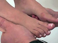 Foot fetish with babe from Glam Bitches