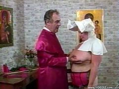 Make sure you have a good look at this bondage video where this nun is spanked by this priest as you get a boner.