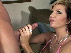 Make sure you have a look at this hardcore scene where the busty mature lady Brittany Blaze is fucked silly by this guy after she gets his cock hard.