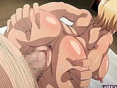 Big titted hentai blondie pumped deep from behind