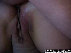 A busty brunette amateur girlfriend goes anal in front of her mom ! A very naughty homemade hardcore action...