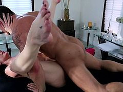 Samantha Ryan form Sweet Sinner receives full massage from horny stud
