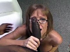 Darla Crane gobbles for giant black cock. This mom is ready for her first interraicla fucking encounter. She was told it's gonna hurt but there is no turning back for her.