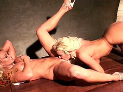 Check out this amazing lesbian scene where two smoking hot blondes make your day as they please each other on camera.