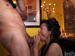 Filthy and slutty woman invites her neighbour to take a pictures of her and suddenly takes off her dress. Her haired clit gets immediately drilled. Watch in Fame Digital xxx clip.