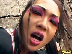 Nyomi Zen is a dirty geisha. She gets her pussy slammed outdoors, enjoying every inch of that cock.