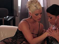 Have fun with this hot lesbian scene where these two heart stopping ladies leave you speechless with their amazing bodies.