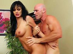 Johnny Sins is a very strict boss who likes his secretary. The girl is very naughty and she always makes eyes to him. One day he cant resist himself and fucks her hardcore