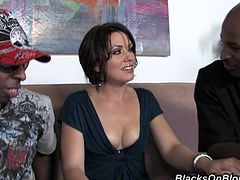Mommy goes for two huge black cocks