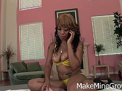 Make Mine Grow brings you a hell of a free porn video where you can see how three ebony lesbians misbehave and provoke while assuming very interesting poses. Melrose Foxxx, Baby Cakes and Melody Nakai wanna be bad.