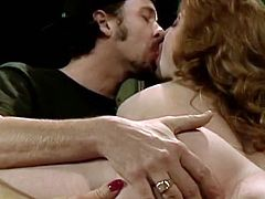 Horny and slutty whores one of them blondie and the other one is brunette. Brunette gets drilled by the man in mish pose and gets her tits licked by the blondie. Watch in The Classic Porn sex clip.