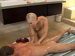 Sensual blonde gets nailed and creamed in hardcore porn action