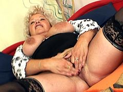 Vratislava is one nasty lady who loves stretching her vag during solo