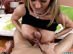 Tender kitty Brandi Love gets her twat stretched by guys erect boner
