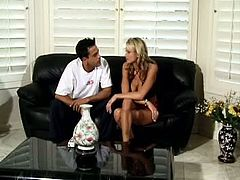 Lustful Briana Banks gets her pussy licked. She loves to start with this thing. It really helps her to turn on. Then this hottie gets soaking wet pussy fucked hard. Of course Briana gets facialed as well.
