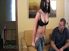 Raven and Alan gets naked for a game. Alan does once again get naked, but not before Raven is naked and down to her last-chance roll. Go ahead and find out more of this hot bitch.