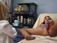 Slutty chick Nina Hartley comes to the nympho doctor.