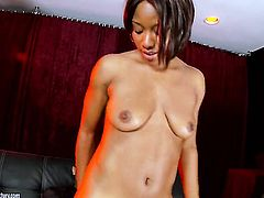 Brunette Imani Rose gives it to hot man in interracial sex action